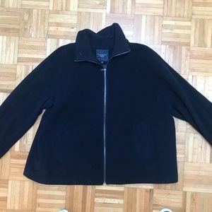 Women's Talbots zip up black, wool peacoat